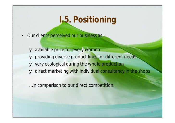 yves rocher body care marketing plan Experience in: cosmetics and body care, industrial, consumer goods and services  new products development strategies based on marketing plan  yves rocher.