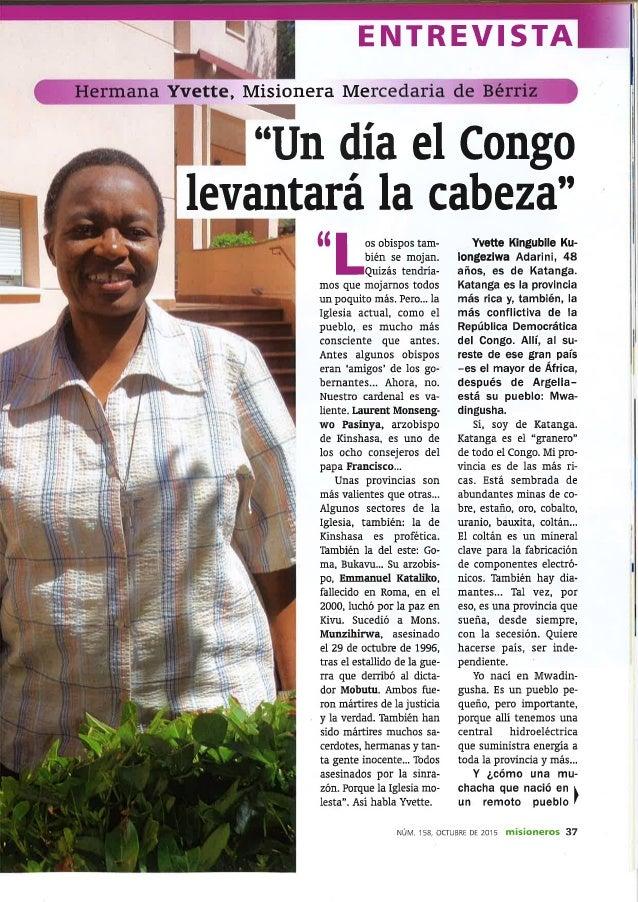 Entrevista a la Hermana Yvette, Misionera Mercedaria de Bérriz