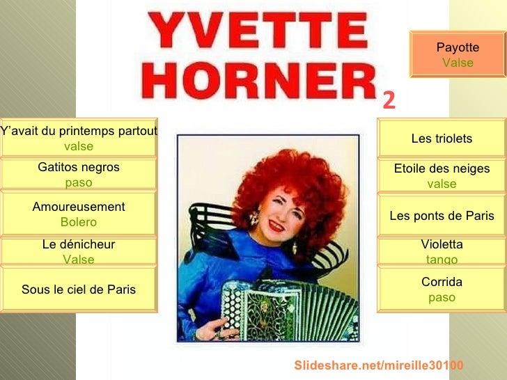 Y'avait du printemps partout valse Gatitos negros paso Amoureusement Bolero Le dénicheur Valse Sous le ciel de Paris Les t...
