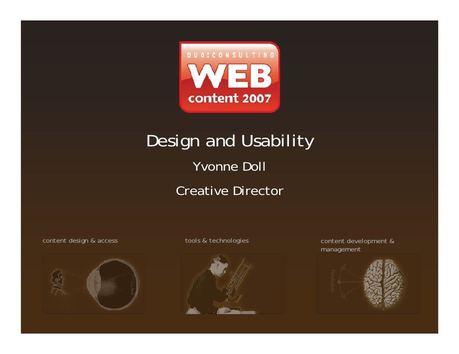 Design and Usability                                 Yvonne Doll                              Creative Director   content ...