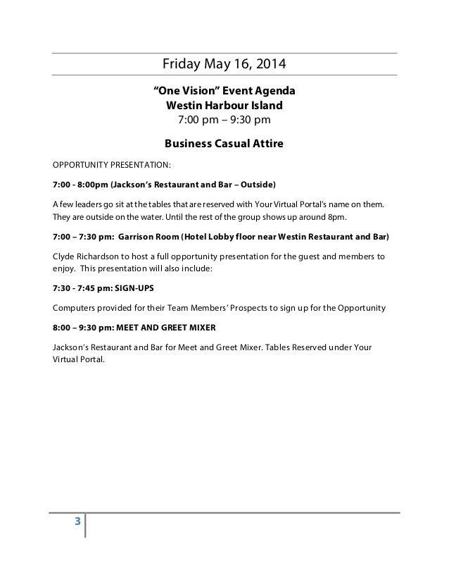 Yvp Event Agenda Participant