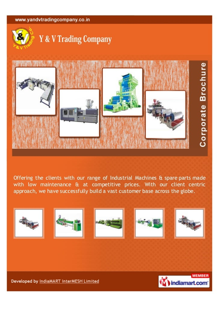 Offering the clients with our range of Industrial Machines & spare parts madewith low maintenance & at competitive prices....