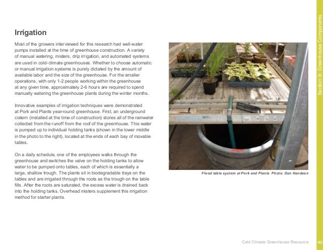 Appendix 43Cold Climate Greenhouse Resource Sweet Earth Farm Gays Mills, WI Harriet Behar Earth-Bermed Passive Solar Year-...