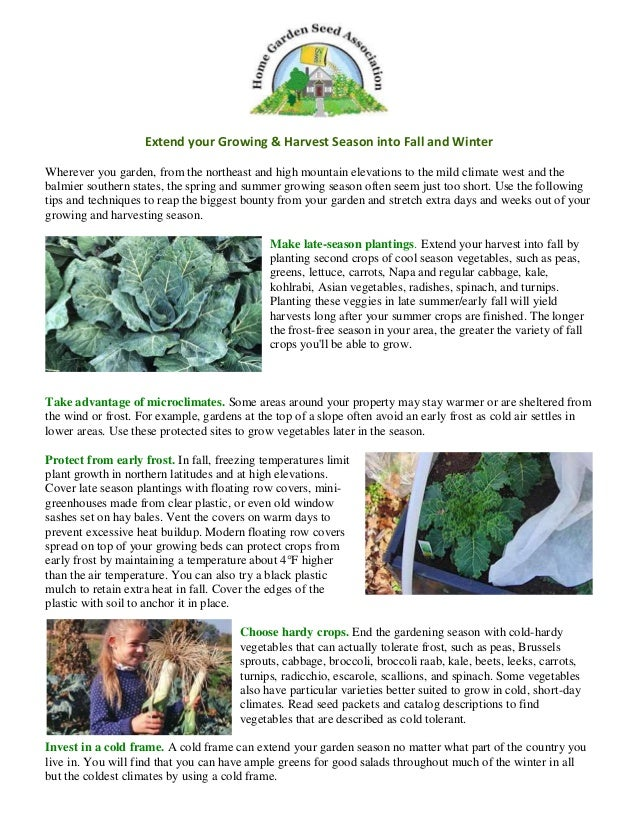 Extend your Growing & Harvest Season into Fall & Winter in Colusa Cou…