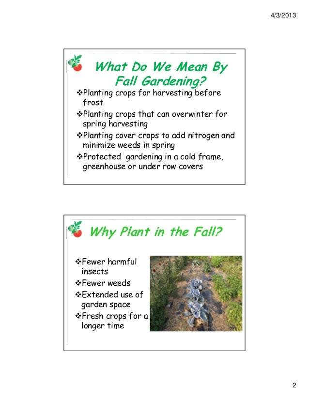 Row Covers & Fall Vegetable Gardening; Gardening Guidebook for Arling…