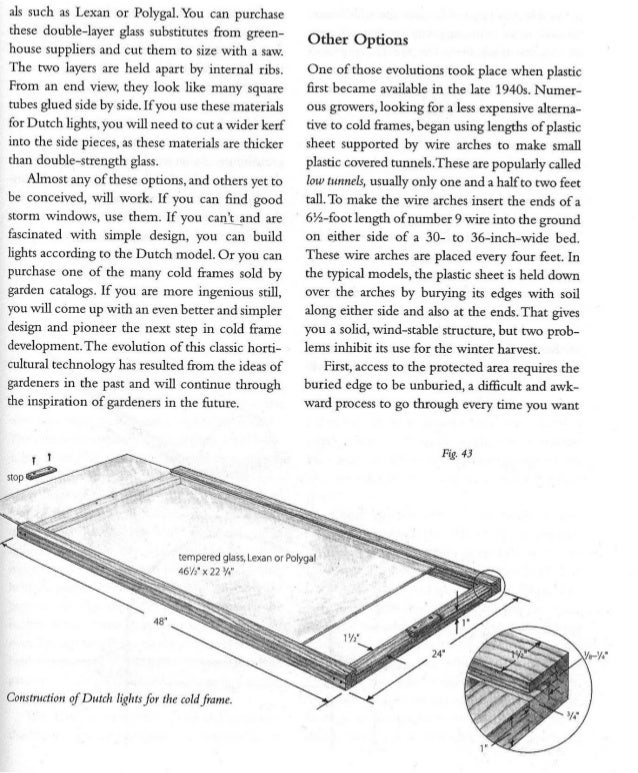 The Cold Frame Box; Gardening Guidebook