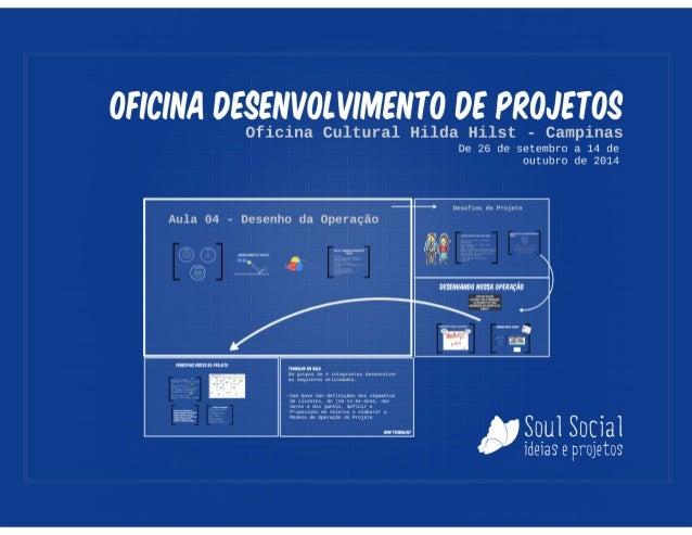 Oficina de Projetos - Aula 04 - Operação do Projeto