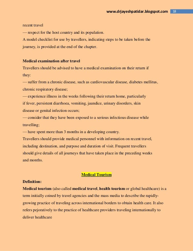 18www.drjayeshpatidar.blogspot.com recent travel — respect for the host country and its population. A model checklist for ...