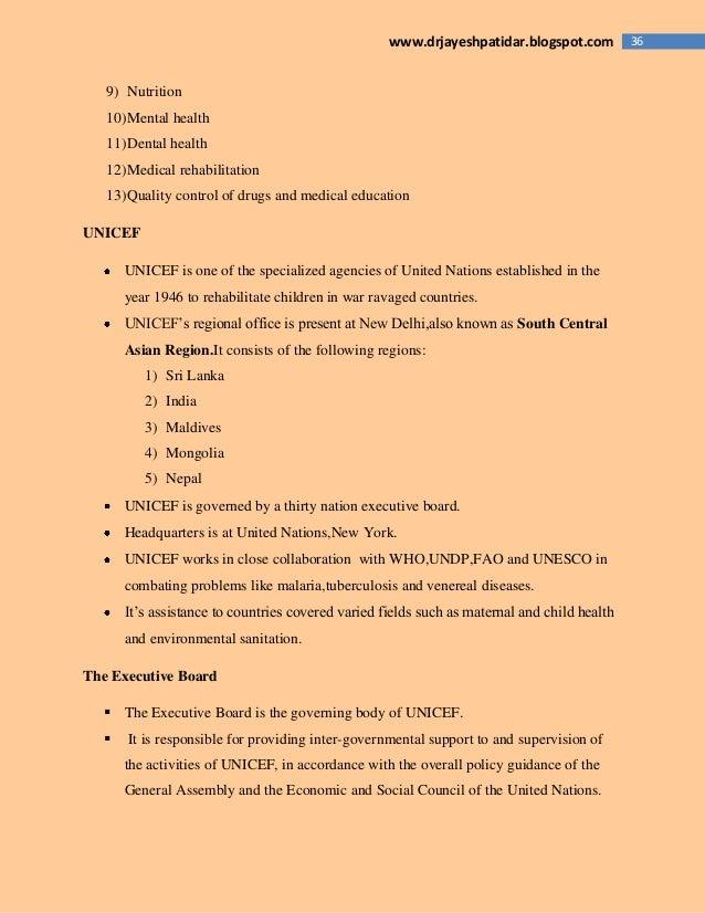 36www.drjayeshpatidar.blogspot.com 9) Nutrition 10)Mental health 11)Dental health 12)Medical rehabilitation 13)Quality con...