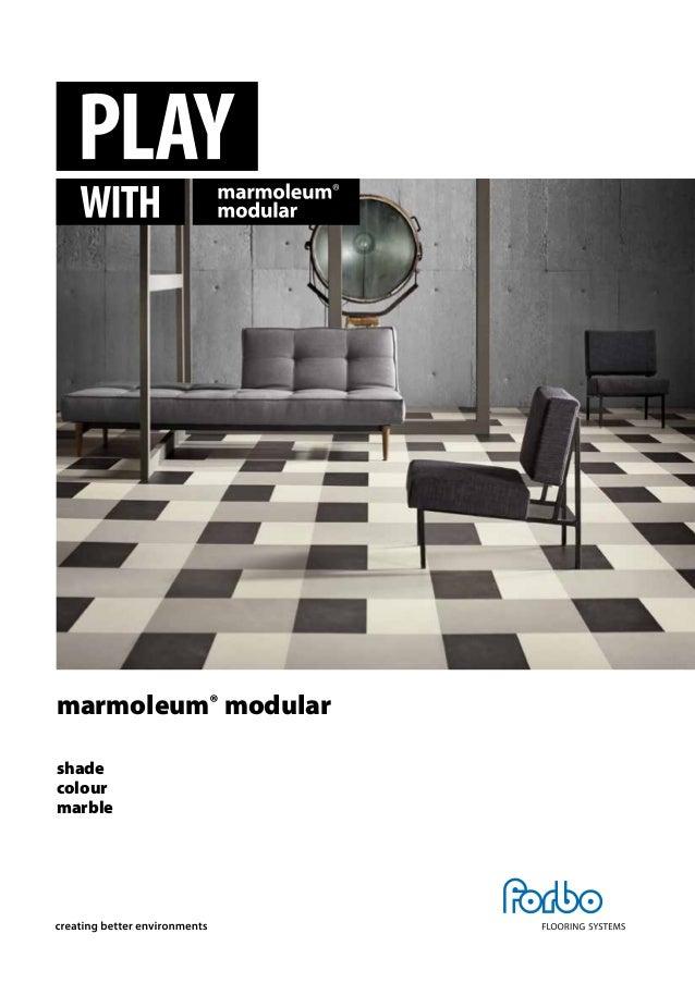 marmoleum® modular shade colour marble