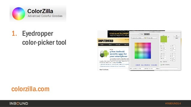 Do it yourself graphic design a guide to free tools for the marketer inbound14 1 eyedroppercolor picker tool colorzilla solutioingenieria Images