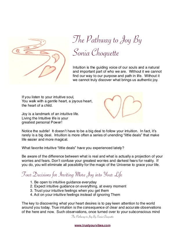 Pathway to joy ebook the pathway to joy by sonia choquette intuition is the guiding voice of our souls and fandeluxe Image collections