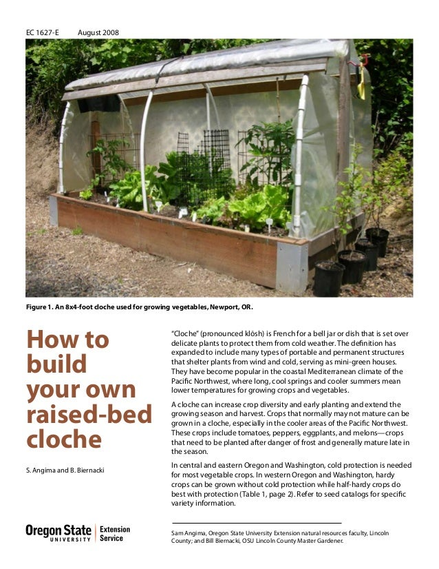 How to build your own raised bed cloche garden for for How to make a raised garden