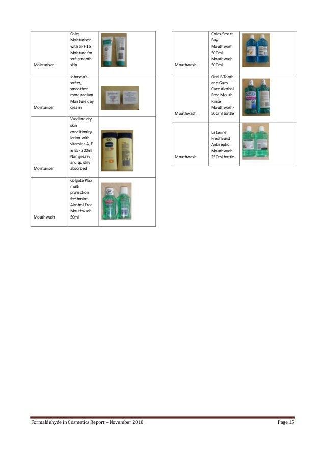 Formaldehyde In Cosmetics