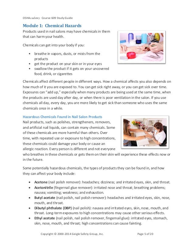 What is hazard in nail care