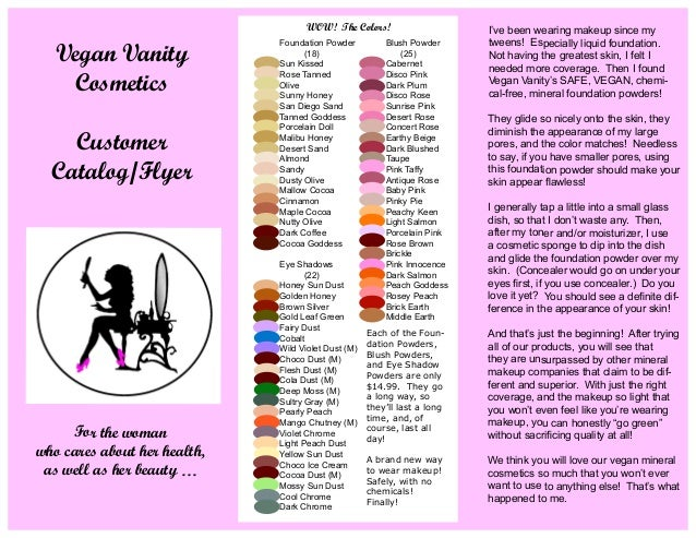 Awesome Vegan Vanity Cosmetics   Guidebook. For The Woman Who Cares About Her  Health, As Well As Her Beauty U2026
