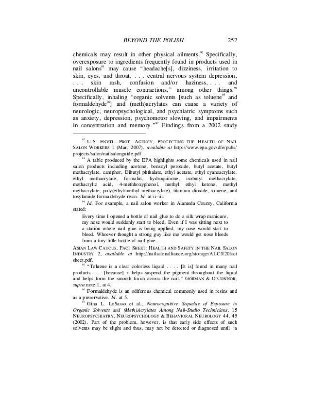 Beyond The Polish - An Examination of Hazardous Conditions In Nail Sa…