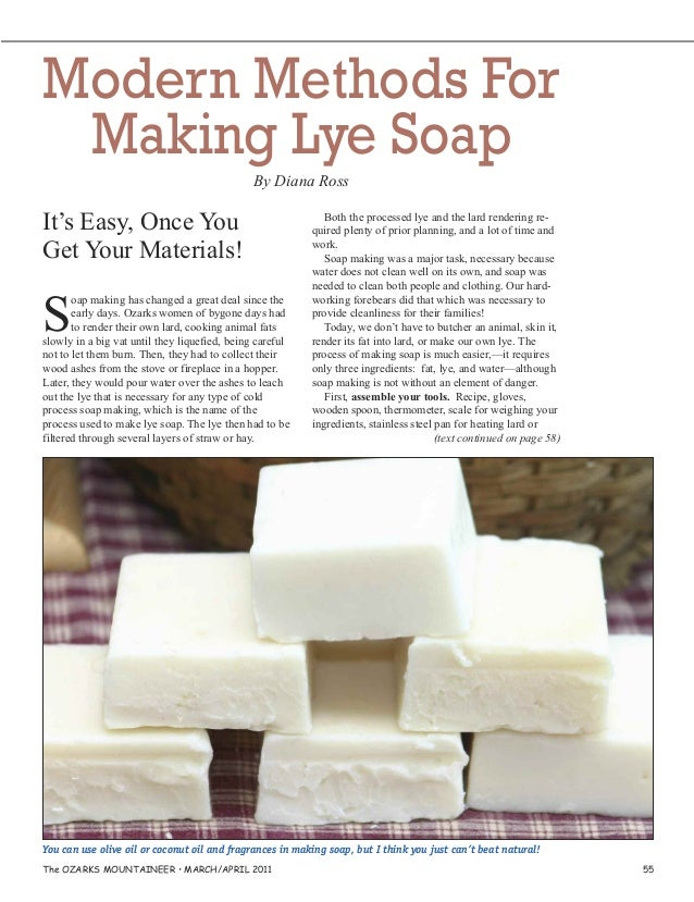 Modern Methods for Making Lye Soap - A Guide for Making your own Soap
