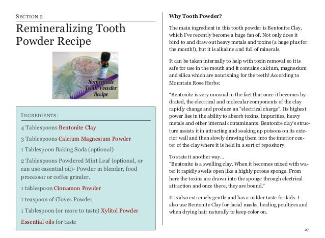 Natural Beauty Recipes - A Handbook for Making your own