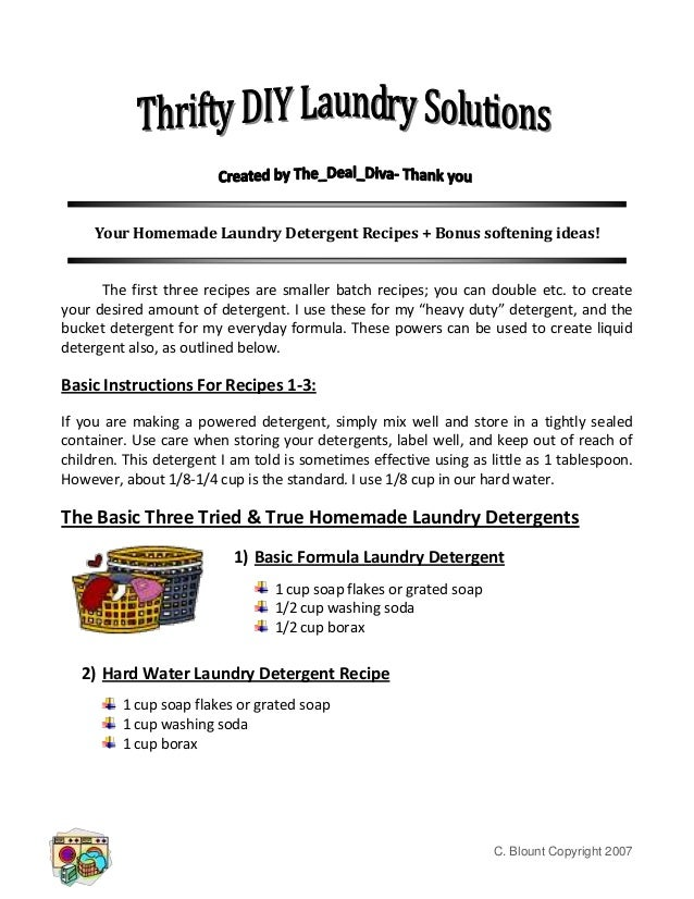 Your Homemade Laundry Detergent Recipes - Thrifty DIY Laundry Solutions