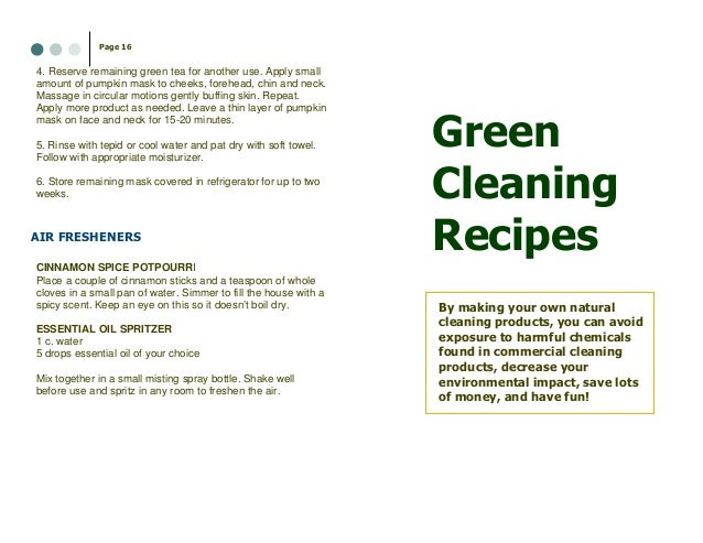 how to make your own green cleaning products