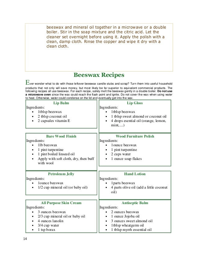 Beeswax Crafts Recipes - A Guidebook to Making your Own