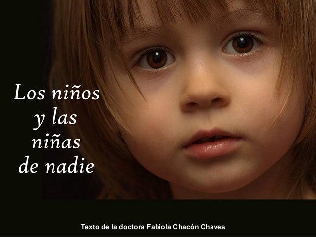 Texto de la doctora Fabiola Chacón Chaves