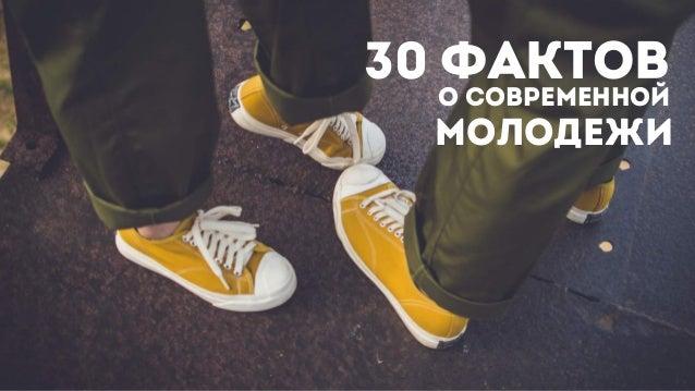 30 фактов молодежи о современной