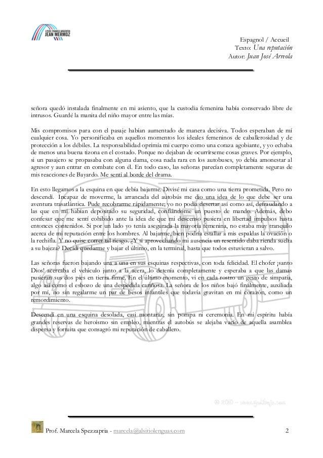 """""""Una reputación"""", Juan José Arreola Slide 2"""