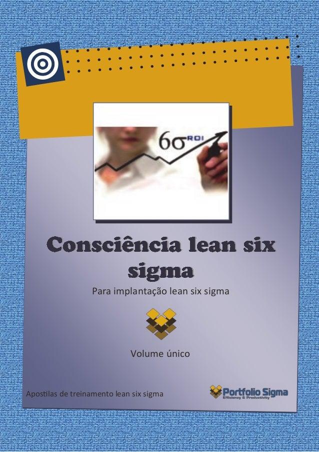 Para implantação lean six sigma  Volume único  Apostilas de treinamento lean six sigma