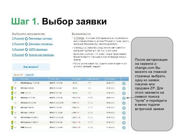 Z-Сhange: подача встречной заявки Slide 2