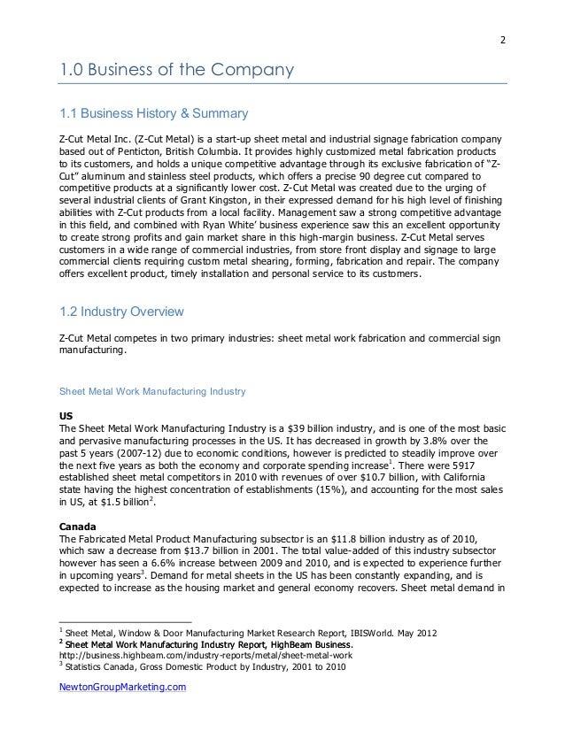 machine shop business plan pdf