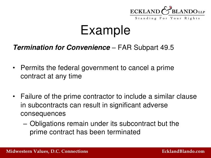 termination for convenience clauses in building A termination for convenience ('tfc') clause in a construction contract allows a principal to terminate a contract with the contractor at its option, regardless of whether the contractor has committed a default or breach of that contract tfc clauses essentially entitle a principal to terminate the.
