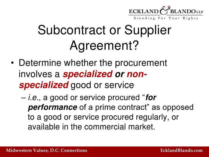 Z Subcontracting And Flow Down Clauses What'S In Your Contract