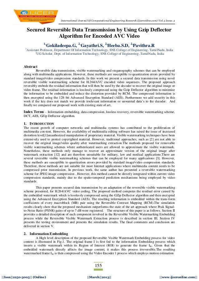 International Journal Of Computational Engineering Research (ijceronline.com) Vol. 3 Issue. 3155  Issn  2250-3005   (Onlin...
