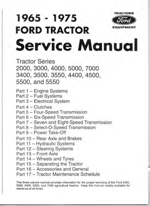 ford  tractor service repair manual