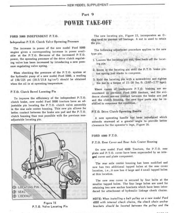 1965 Ford 3000 Tractor Service Repair Manual