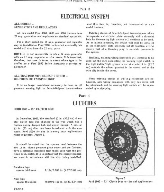 Well-Educated Ford Tractors Workshop Manual 10 Series Ford Agriculture/farming