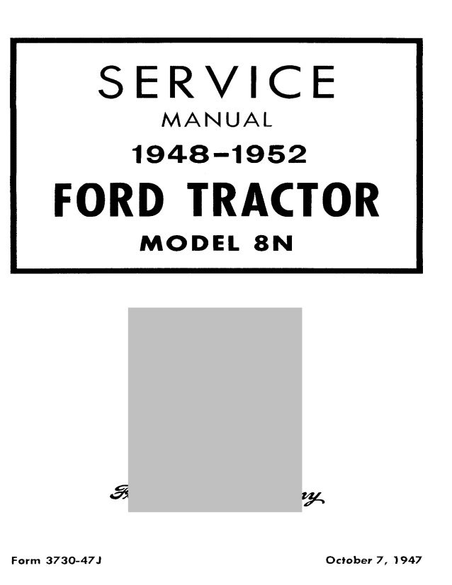 1948 ford 8n tractor service repair manual rh slideshare net 8N Ford Tractor Timing Marks Ford 8N Tractor Parts Diagram