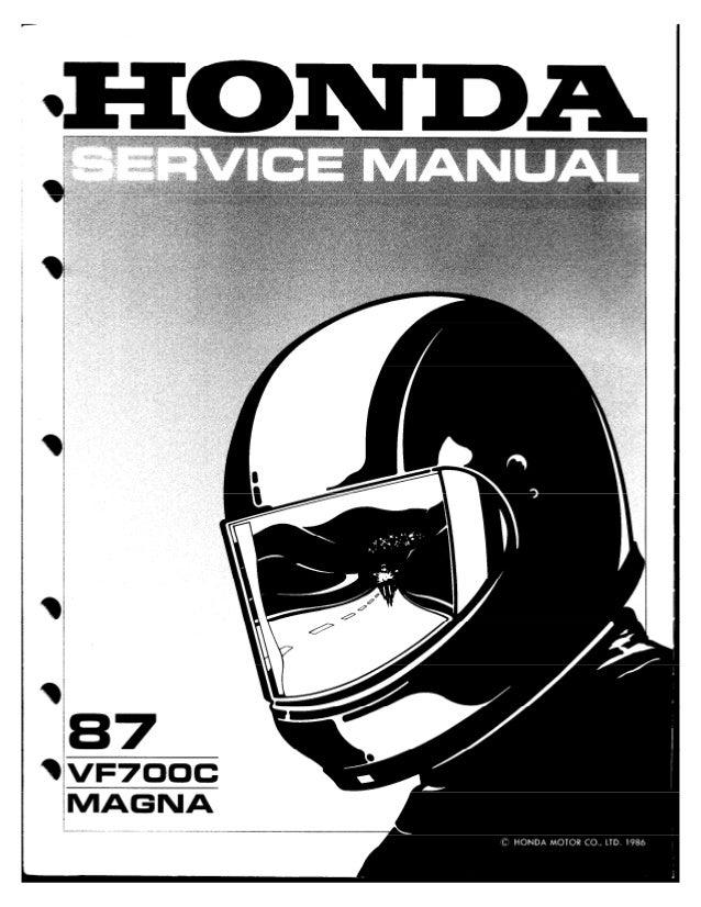 Service Manual Honda Magna 750 87