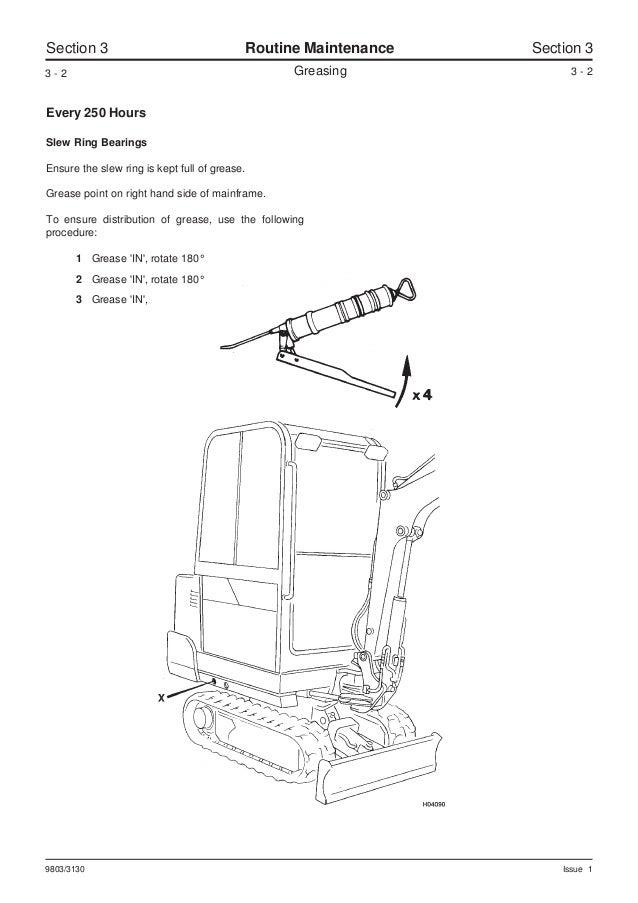 JCB 801.4 MINI EXCAVATOR Service Repair Manual SN(720001