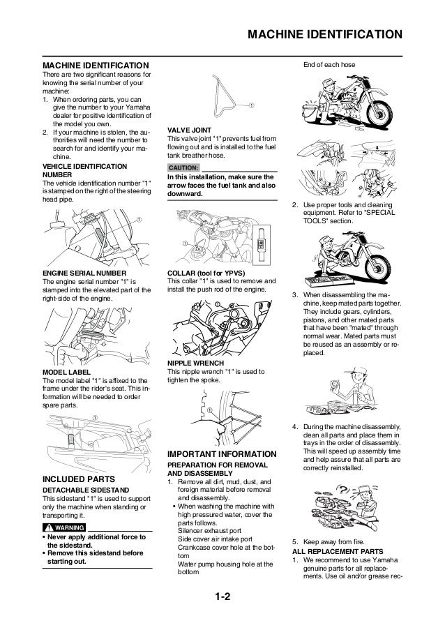 2008 YAMAHA YZ125(X)/X1 Service Repair Manual