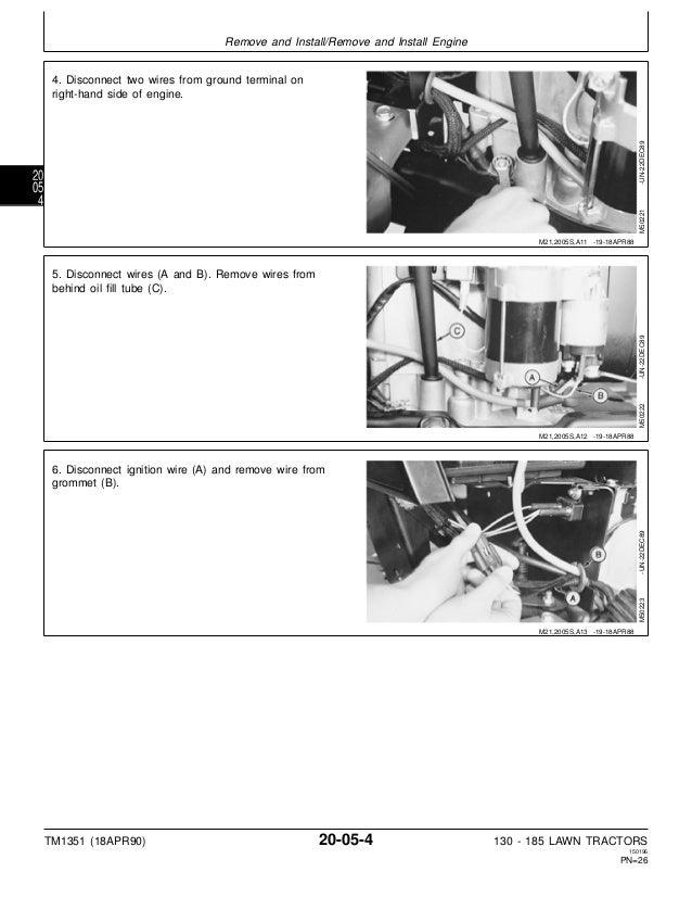 JOHN DEERE 185 LAWN GARDEN TRACTOR Service Repair Manual on john deere 185 electrical problems, john deere 165 wiring-diagram, john deere 175 hydro wiring diagram, john deere 185 starter solenoid, john deere 165 parts diagram,