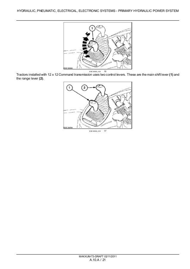 CASE IH MAXXUM 110 Multicontroller TRACTOR Service Repair