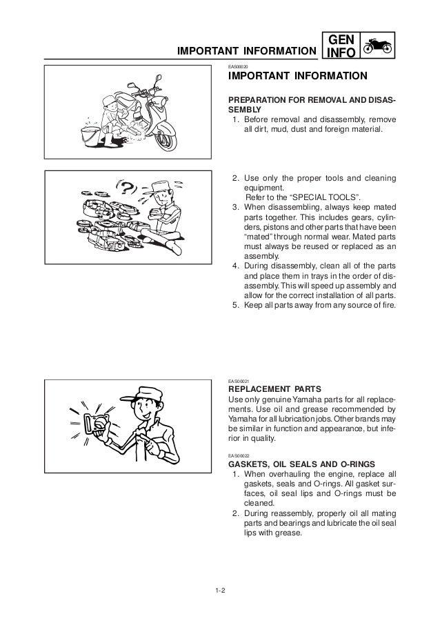 yamaha yj125s full service repair manual 2003 2008