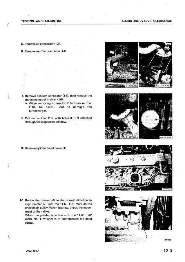 KOMATSU WA180-1 WHEEL LOADER Service Repair Manual SN