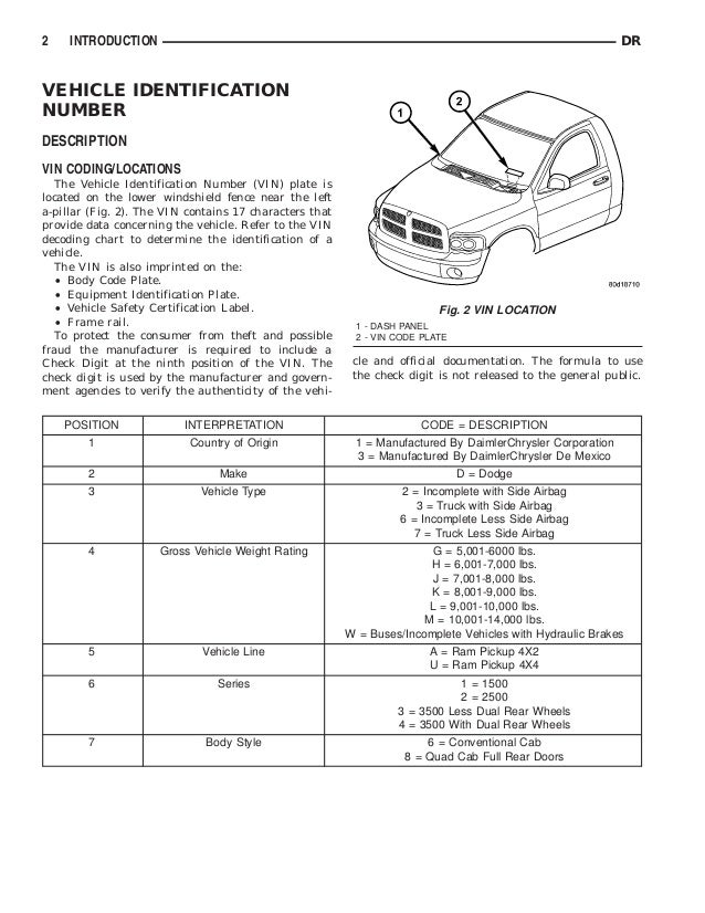 2003 DODGE RAM TRUCK Service Repair Manual