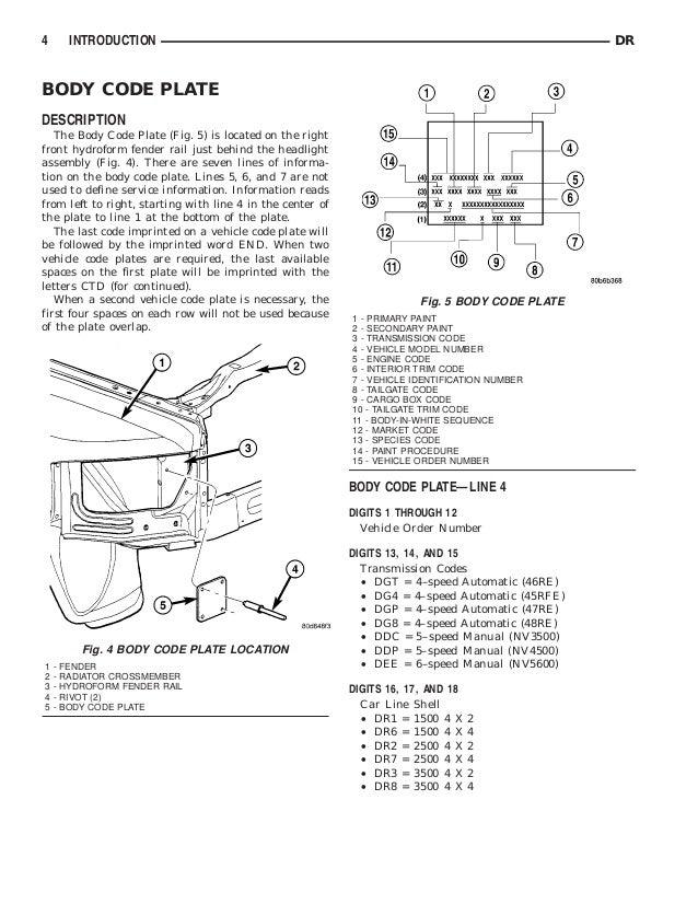 2003 DODGE RAM TRUCK Service Repair Manual
