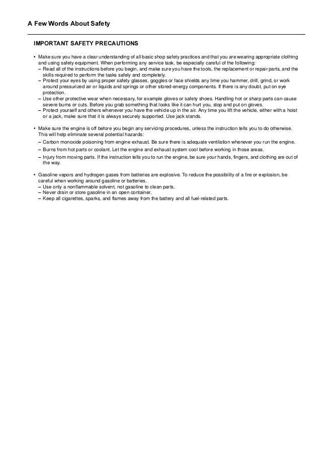2003 Honda Crv Service Repair Manual