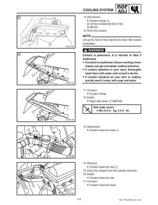 2003 Yamaha SXViper Mountain (SVX70M) SNOWMOBILE Service